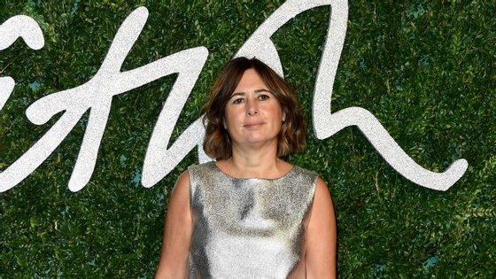 Alexandra Shulman, diretora da Vogue britânica, nos British Fashion Awards.