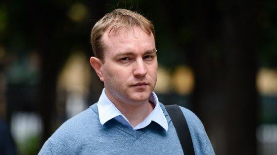 O corretor britânico Tom Hayes à chegada, na passada semana, ao tribunal de Southwark Crown.