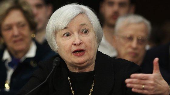 Janet Yellen, presidente da Reserva Federal dos EUA, o banco central norte-americano