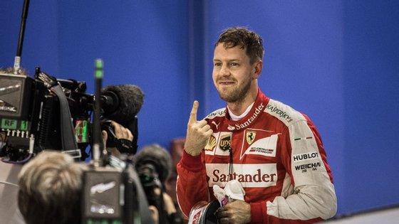 Esta é a primeira vez que a Ferrari vai sair na pole-position desde o GP da Alemanha de 2012