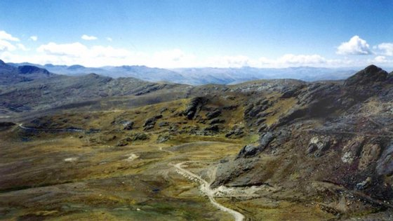 Minas Las Bambas, no Peru.