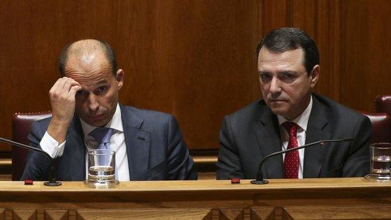 O secretário de Estado Agostinho Branquinho, à direita na foto, foi o reponsável pela criação da Comissão para a Deficiência