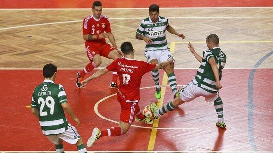 O Benfica é líder isolado do Campeonato Nacional de futsal