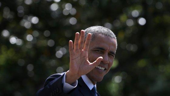 Barack Obama foi a visita especial e inesperada na cerimónia de casamento de Brian e Stephanie Tobe