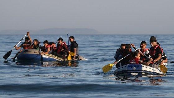 O mar Egeu é uma bacia do Mediterrâneo que faz parte do percurso dos refugiados vindos da Síria a caminho da Europa
