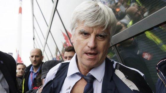 Frédéric Gagey,  presidente da Air France, foi agredido pelos trabalhadores