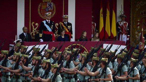 O Dia da Hispanidade é marcado por um desfile militar anual em Madrid