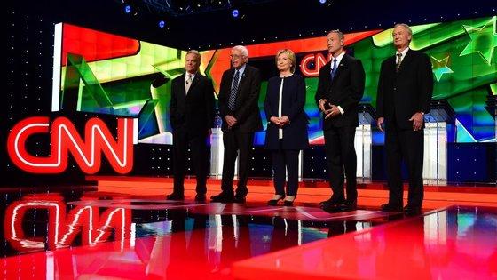 Cinco candidatos ao lugar de nomeado pelo Partido Democrata