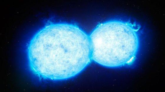 As estrelas do sistema VFTS 352 estão tão próximas que trocam material (ilustração)