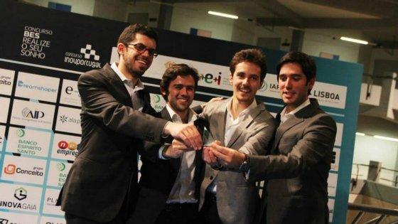 A equipa da Followprice começou com os quatro fundadores, mas já emprega mais seis pessoas