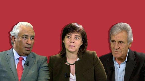 António Costa, Catarina Martins e Jerónimo de Sousa podem vir a formar um governo de esquerda