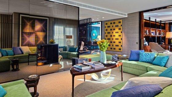 Um dos exemplos do design de interiores feito pela marca portuguesa, num apartamento em Lisboa.