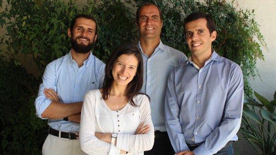Os fundadores João Gomes, Bruno Franco, Inês Santos e João Ramos