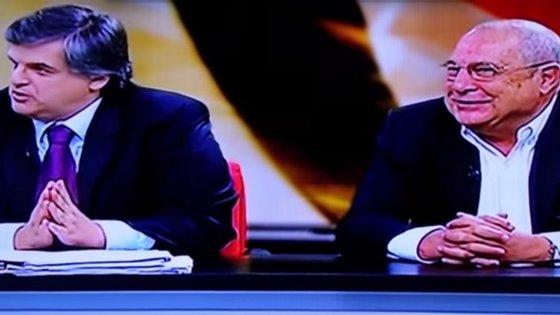 """Pedro Guerra e Eduardo Barroso no programa """"Prolongamento"""" da TVI"""