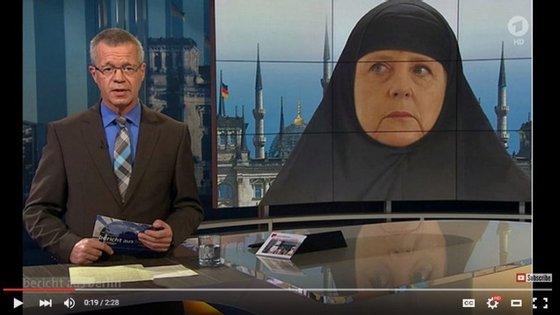 """A imagem foi mostrada num debate sobre a crise dos refugiados, no programa """"Report from Berlin"""""""