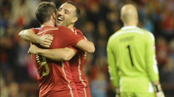 """Paco Alcácer e Pedro Rodríguez foram as duas grandes figuras de """"La Roja"""", marcando dois golos cada um"""