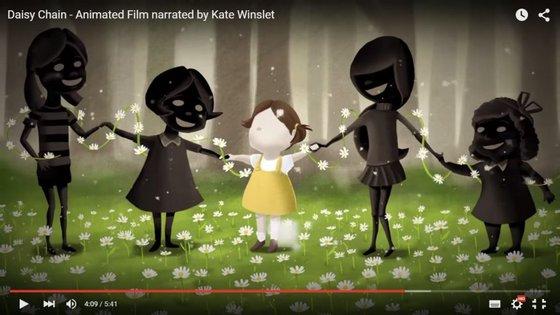 """A atriz Kate Winslet é a narradora do curta-metragem de animação """"Daisy Chain"""""""