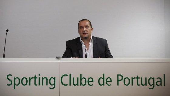 O vice-presidente do Sporting e ex-inspetor da PJ, Paulo Pereira Cristóvão