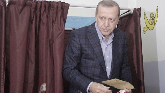 O presidente da Turquia já votou