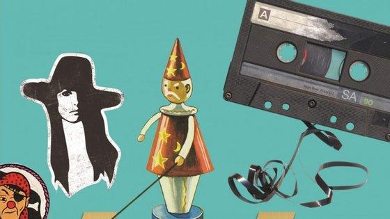 Da esquerda para a direita: pastilhas Pirata, a Penélope, o Sabichão e uma cassete já desfeita de tanto uso. Lembra-se disto?