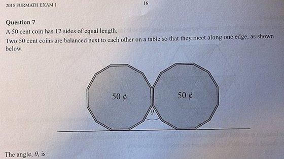 Foi publicado, na internet, um exercício de matemática de uma exame de liceu que está a colocar as redes sociais a pensar. Consegue resolver o exercício?