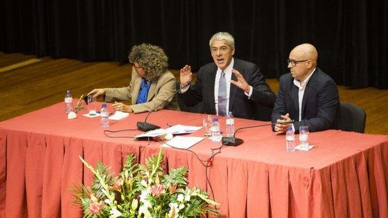 O primeiro discurso numa sessão pública desde que saiu da prisão domiciliária foi em Vila Velha de Rodão