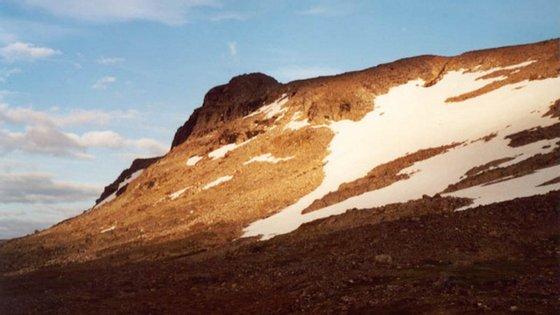 Halti vista do lado norueguês, no verão