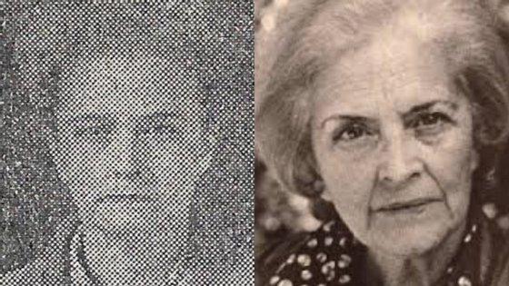 Imagem de Cândida Ventura quando foi presa, em 1960, e quando publicou o livro em que denunciou o comunismo, em 1984