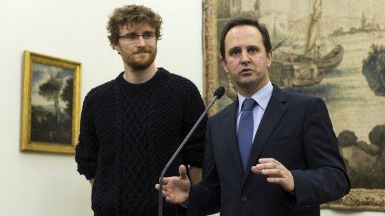 Paddy Cosgrave e Fernando Medina, presidente da Câmara Municipal de Lisboa