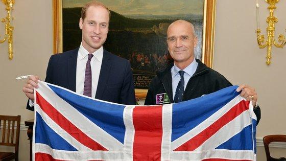 Explorador Henry Worsley com o príncipe William