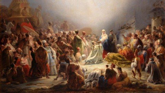"""""""Adoração dos Magos"""" é um quadro de de Domingos Sequeira, pintado em 1828"""