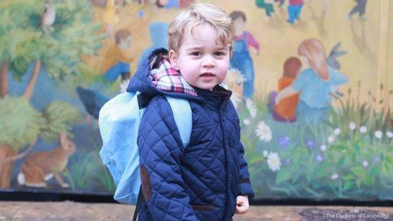 George foi fotografado pela mãe, a Duquesa de Cambridge.