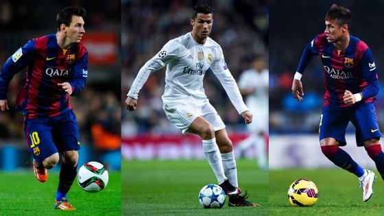 Os três finalistas à Bola de Ouro marcaram 154 golos durante 2015. Mais do que o Benfica e o FC Porto conseguiram juntos (160) na última edição do campeonato português