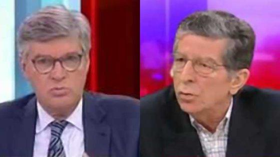 Os advogados José António Pinto Ribeiro (à esquerda) e Manuel Magalhães e Silva (à direita)