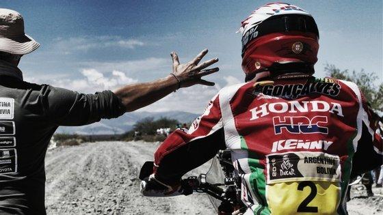 O piloto português chegou a liderar o Dakar durante quatro etapas. Em 2015 terminou o rali na segunda posição da classificação geral das motos