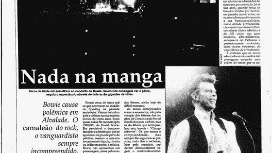 David Bowie esteve em Portugal em 1990 e em 1996