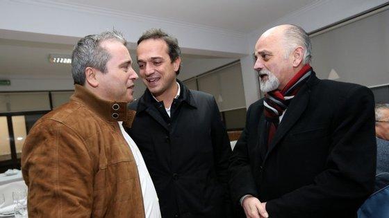 Hugo Pires, deputado e secretário nacional do PS (ao centro) e Mesquita Machado, ex-edil da Câmara de Braga (à direita), vão ser ouvidos pelo Ministério Público