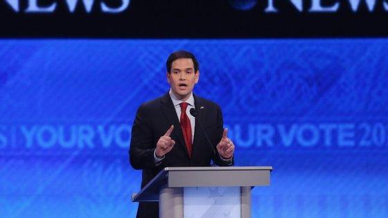 """Marco Rubio ficou em terceiro lugar no """"caucus"""" do Iowa"""