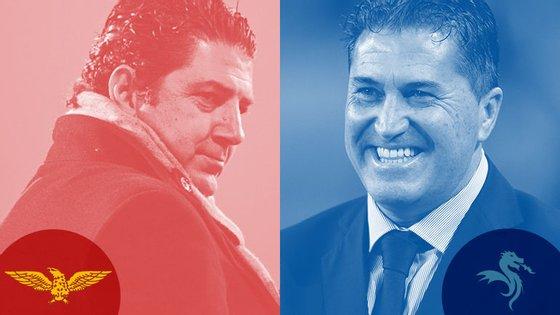 O senhor da esquerda pegou no Benfica na pré-época e já o conseguiu embalar (vai em 11 vitórias seguidas). O da direita está no FC Porto há menos de um mês e tem tantas derrotas (três) quanto vitórias