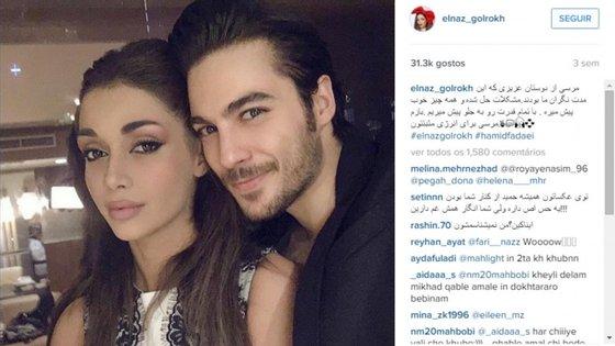 Elnaz Golrokh foi detida juntamente com o marido que também é modelo. Ambos terão pago uma fiança tendo sido libertados em seguida. No entanto a manequim deixou a entender que iria abandonar o Irão.
