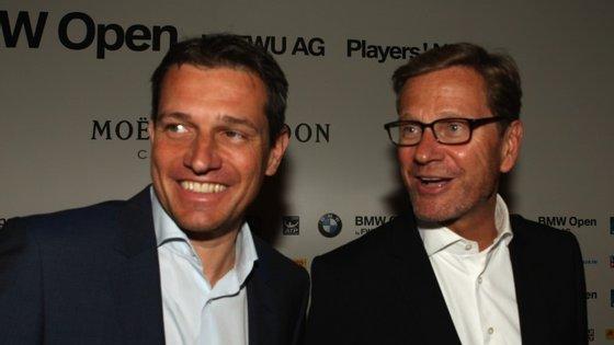 Guido Westerwelle (à direita) acompanhado pelo companheiro Michael Mronz