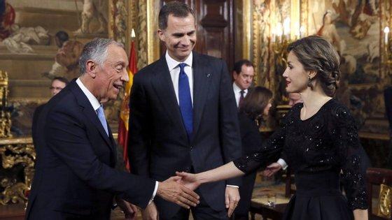Os reis de Espanha estão numa visita de Estado de três dias a Portugal, com início esta segunda-feira