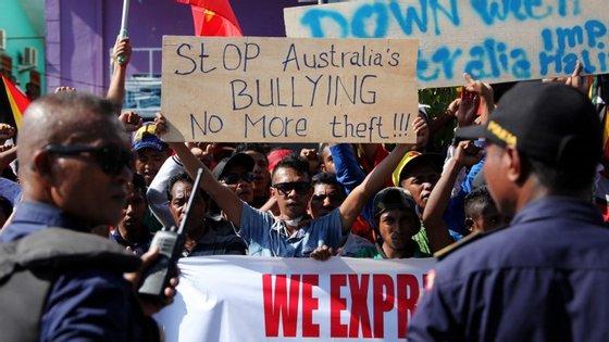 """""""Tudo o que Timor-Leste procura é uma solução justa e equitativa"""", disse o primeiro-ministro de Timor Leste, Rui Maria de Araújo"""