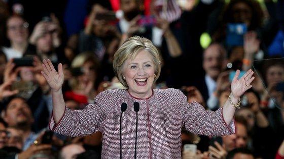 Hillary Clinton conseguiu juntar 58% dos votos, contra os 42% de Bernie Sanders