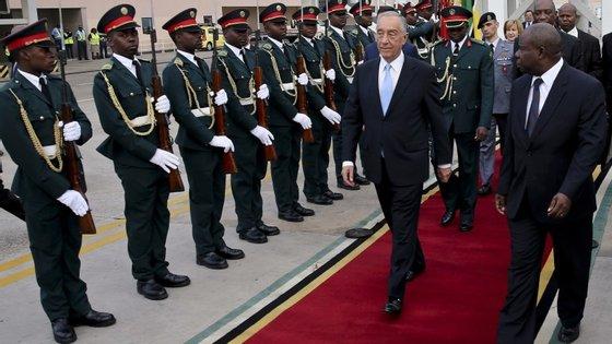 O Presidente da República falou das previsões da Comissão Europeia durante a visita a Moçambique