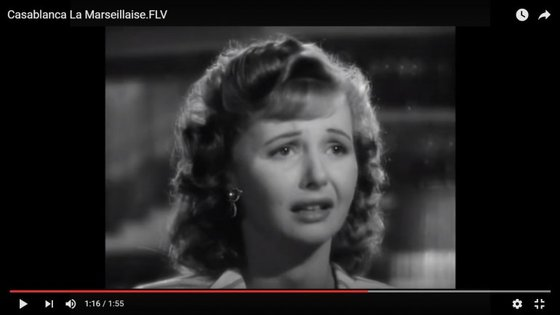 """Madeleine Lebeau interpretou o papel de Yvonne no filme """"Casablanca"""""""