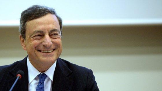 Mario Draghi, o presidente do Banco Central Europeu