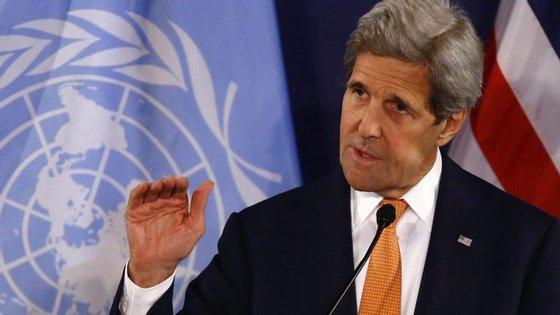 John Kerry, o secretário de Estado norte-americano.