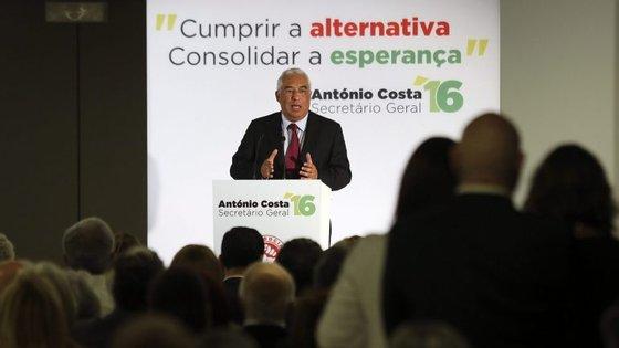 Líder socialista discursou no hotel Altis, em Lisboa, numa sessão de esclarecimento da sua moção ao congresso.