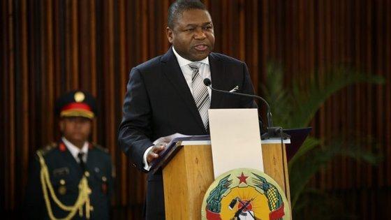 O Presidente da República de Moçambique,  Filipe Nyusi